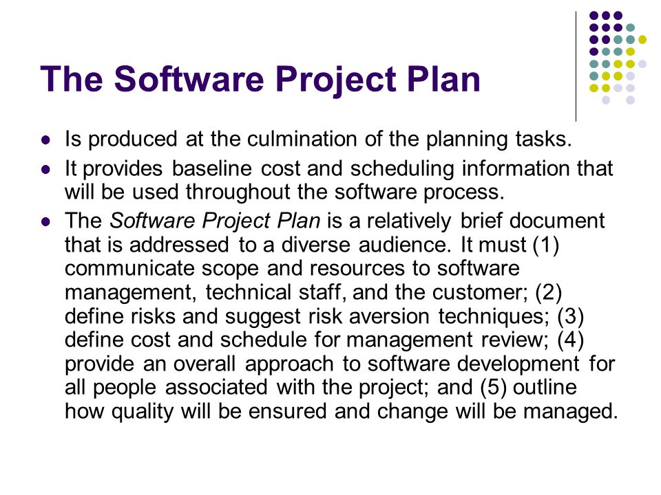 The Software Project Plan