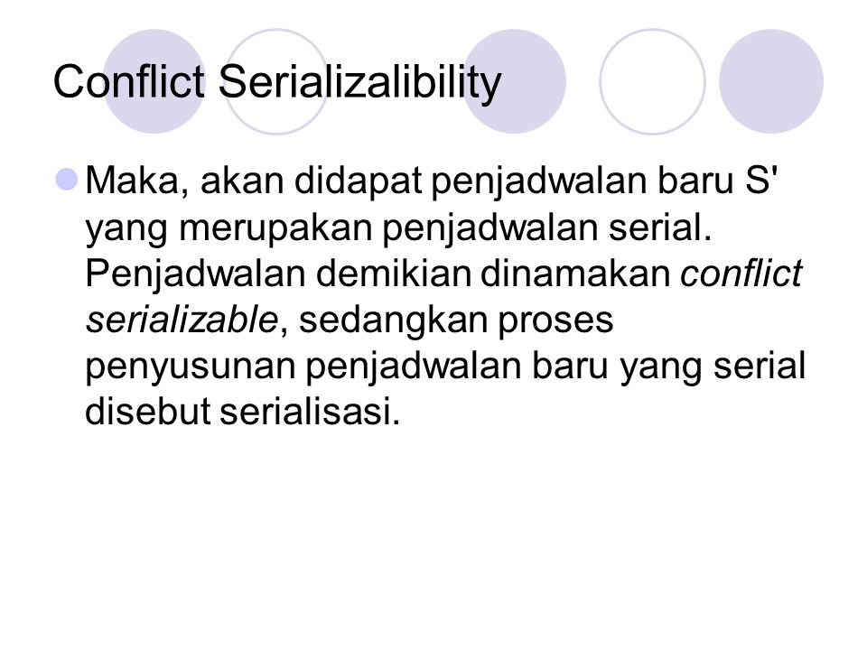 Conflict Serializalibility
