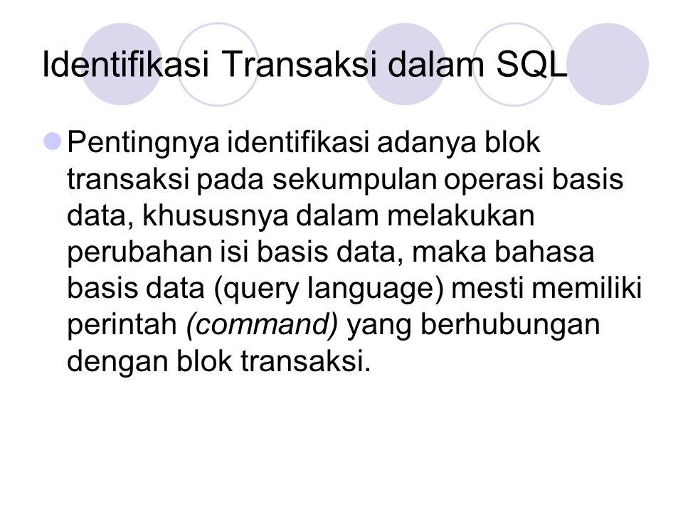 Identifikasi Transaksi dalam SQL