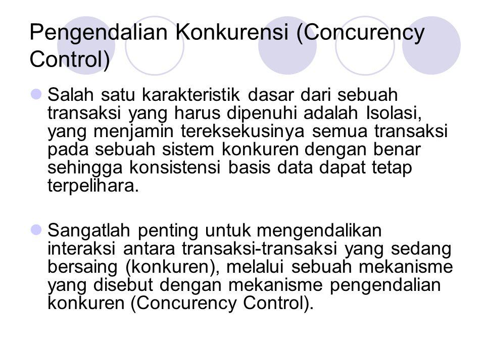 Pengendalian Konkurensi (Concurency Control)