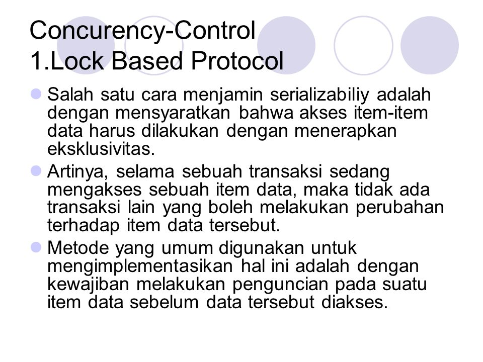 Concurency-Control 1.Lock Based Protocol