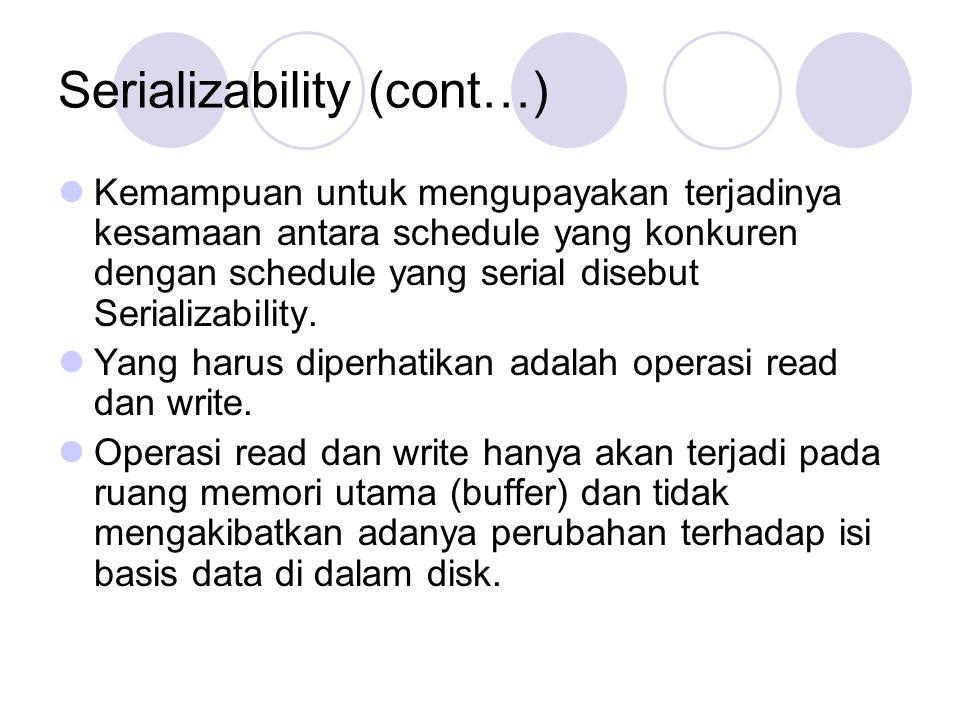 Serializability (cont…)