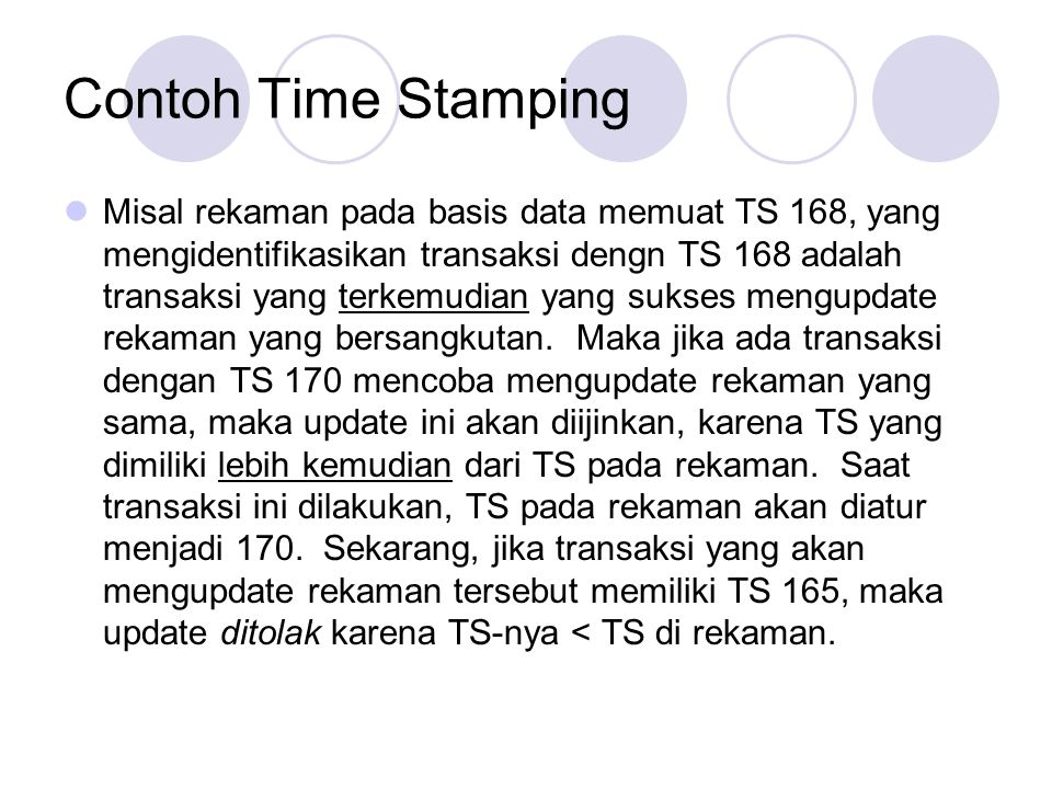 Contoh Time Stamping