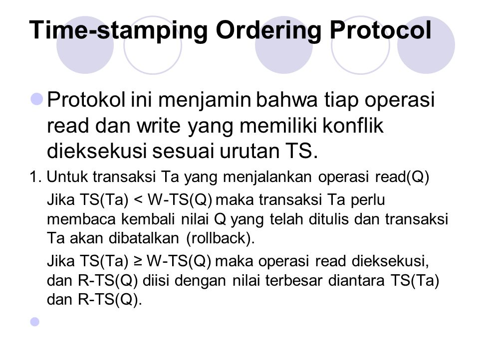Time-stamping Ordering Protocol