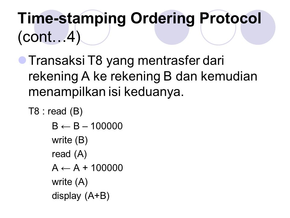 Time-stamping Ordering Protocol (cont…4)