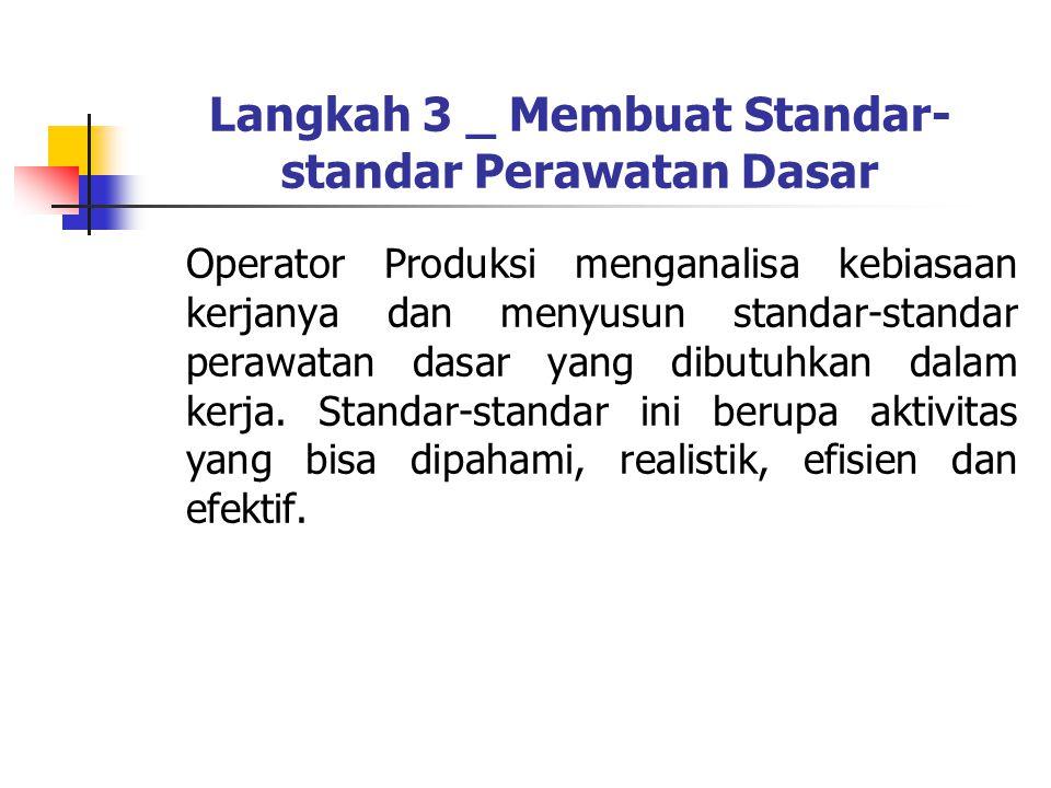 Langkah 3 _ Membuat Standar-standar Perawatan Dasar