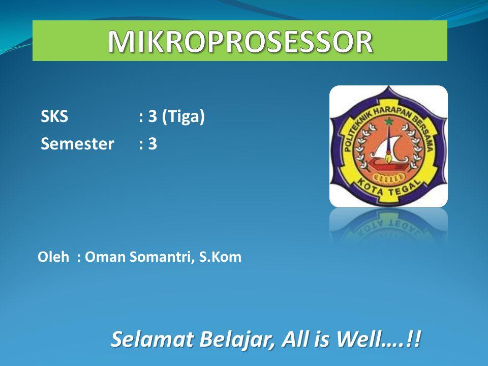 MIKROPROSESSOR Selamat Belajar, All is Well….!! SKS : 3 (Tiga)