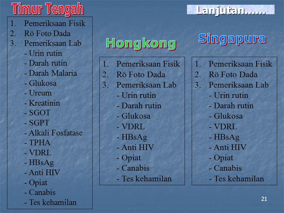 Timur Tengah Singapura Hongkong