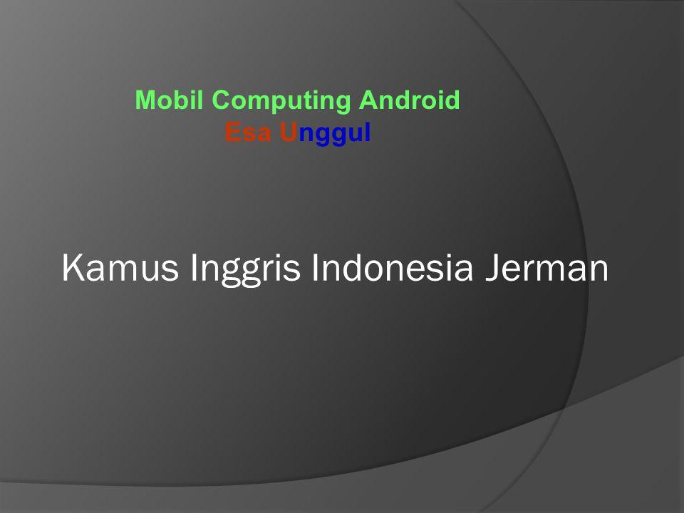 Kamus Inggris Indonesia Jerman