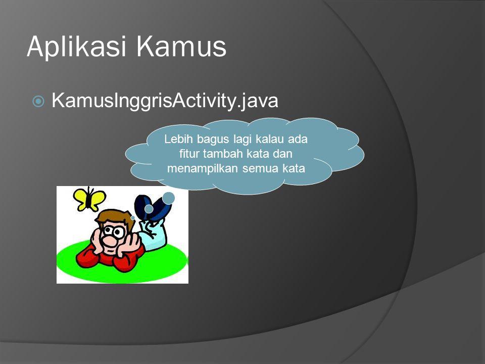 Aplikasi Kamus KamusInggrisActivity.java