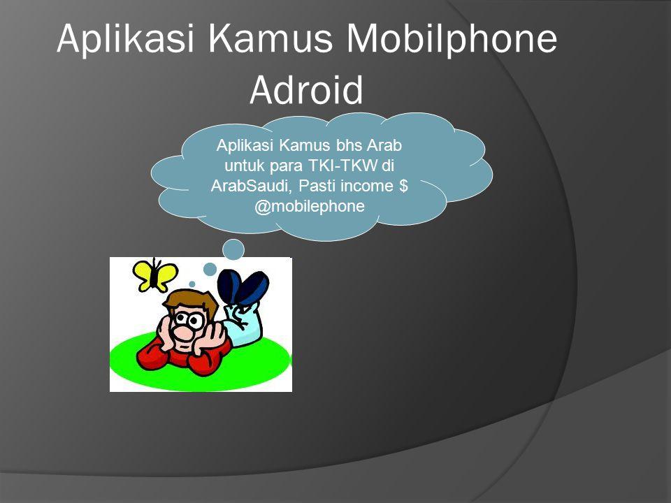 Aplikasi Kamus Mobilphone Adroid