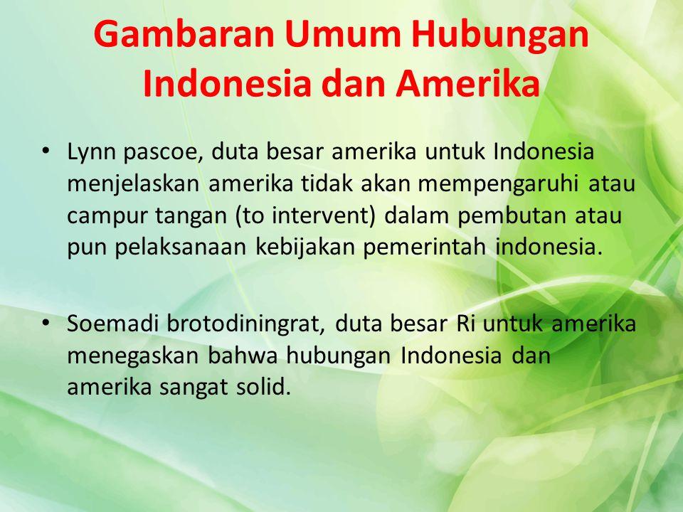 Gambaran Umum Hubungan Indonesia dan Amerika