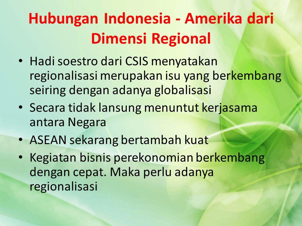 Hubungan Indonesia - Amerika dari Dimensi Regional