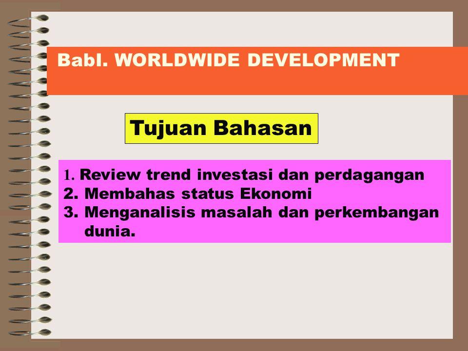 Tujuan Bahasan BabI. WORLDWIDE DEVELOPMENT