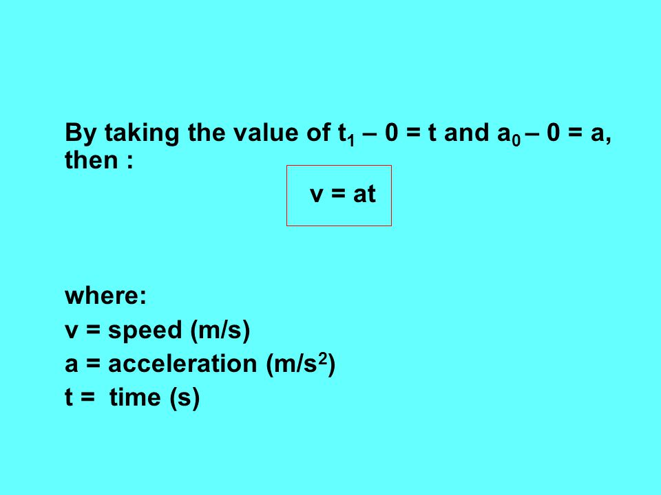 By taking the value of t1 – 0 = t and a0 – 0 = a, then :