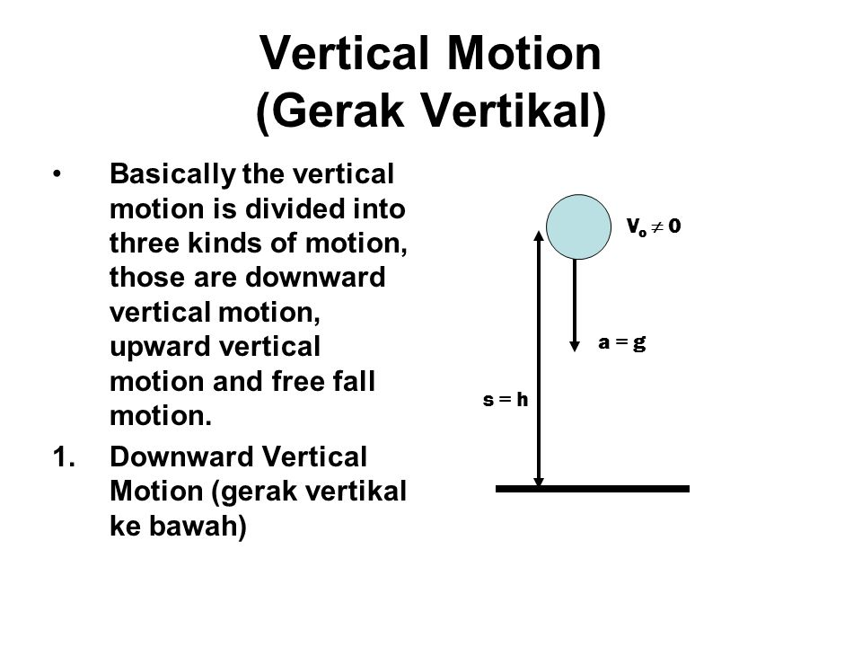 Vertical Motion (Gerak Vertikal)