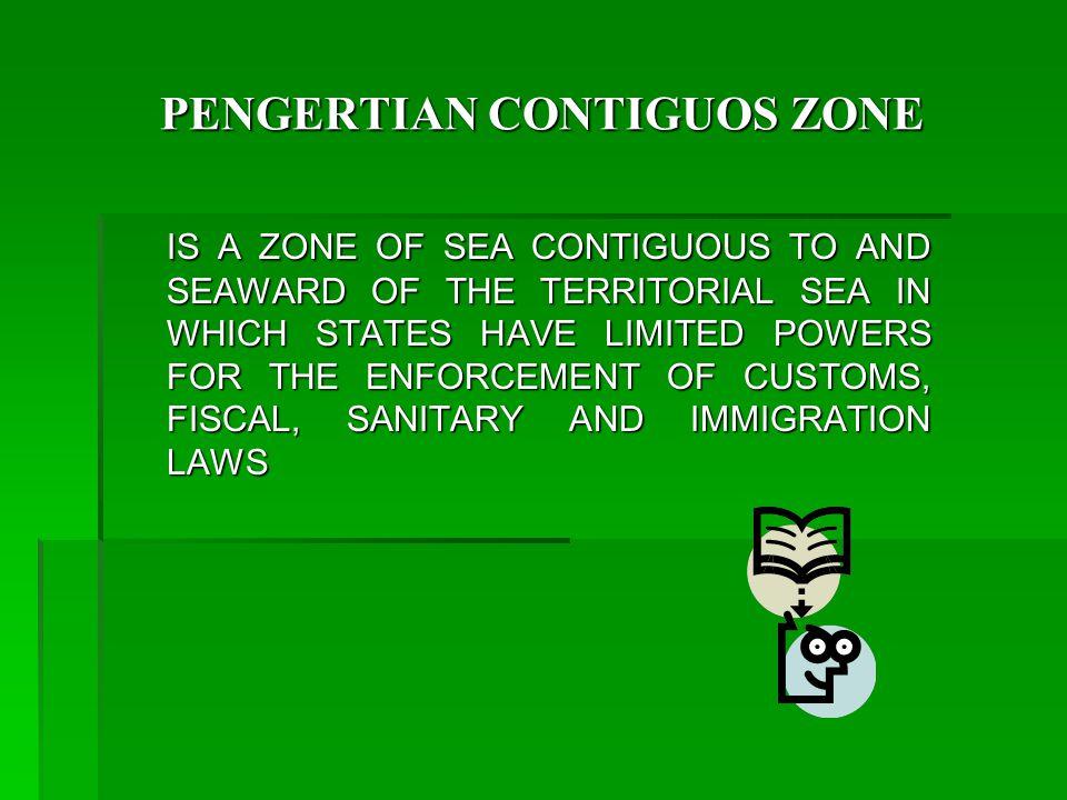 PENGERTIAN CONTIGUOS ZONE