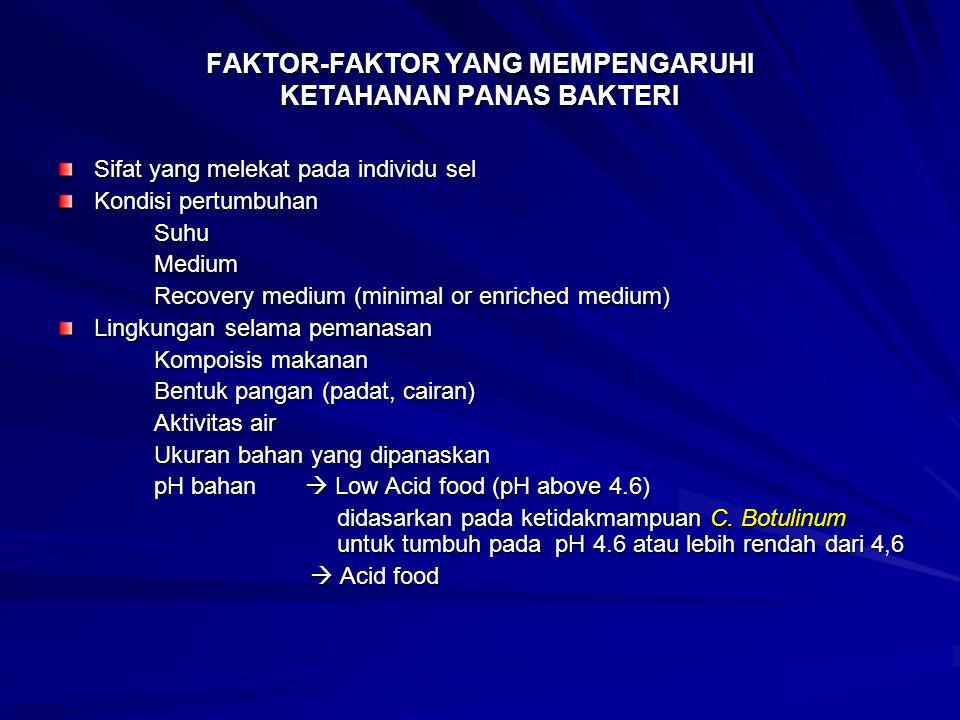 FAKTOR-FAKTOR YANG MEMPENGARUHI KETAHANAN PANAS BAKTERI