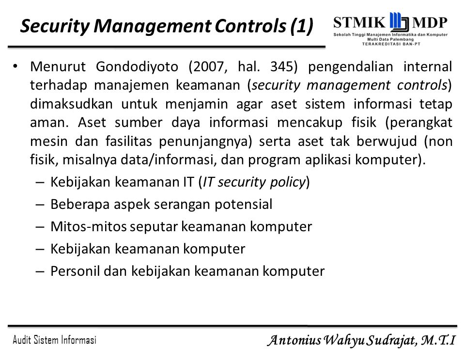 Security Management Controls (1)