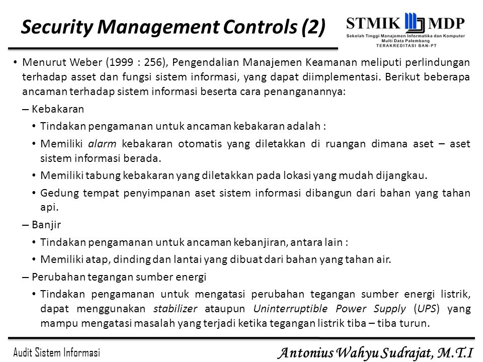 Security Management Controls (2)