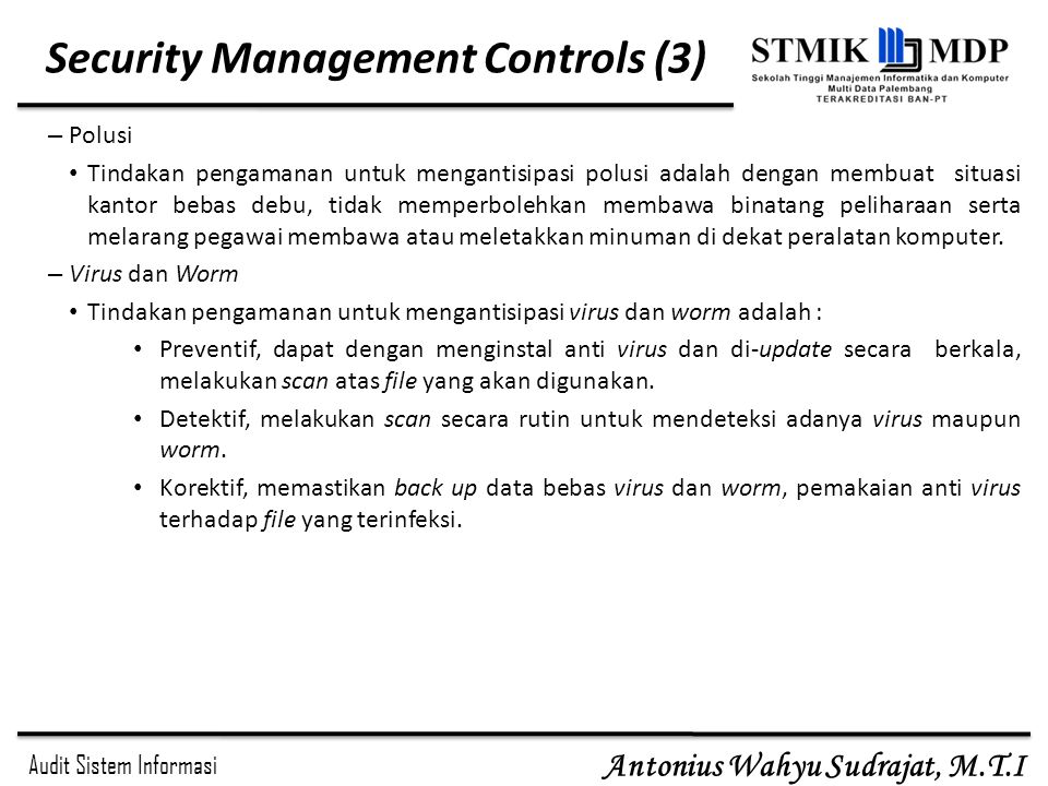 Security Management Controls (3)