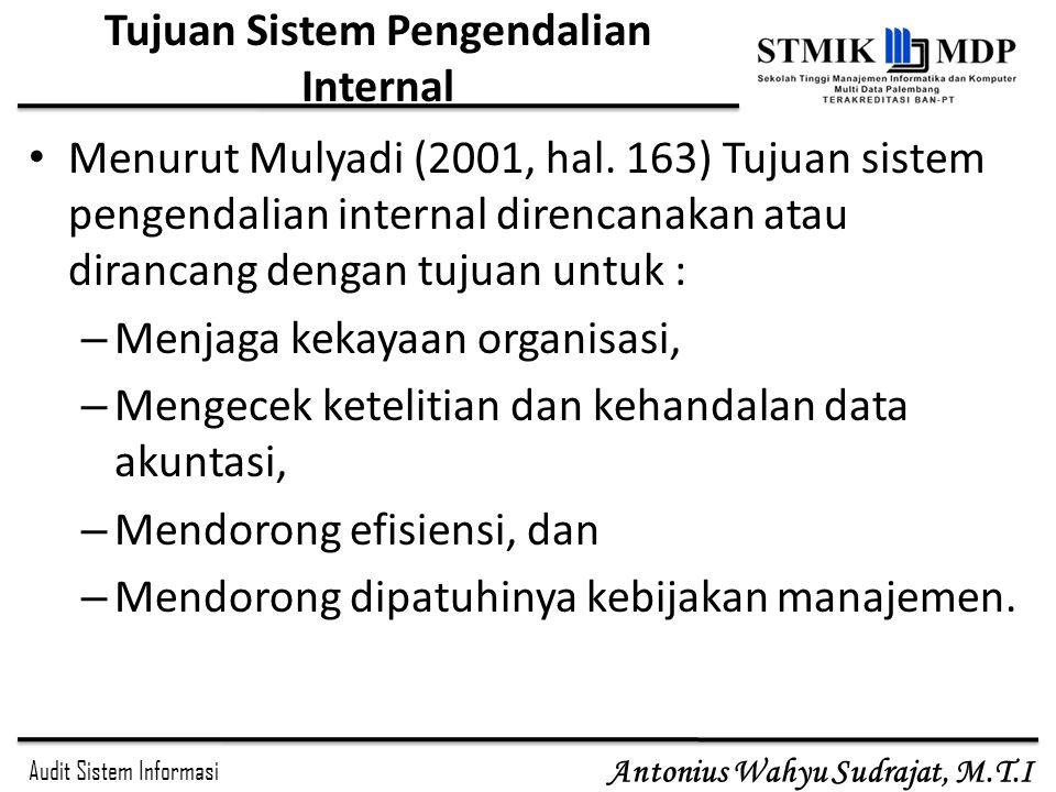Tujuan Sistem Pengendalian Internal