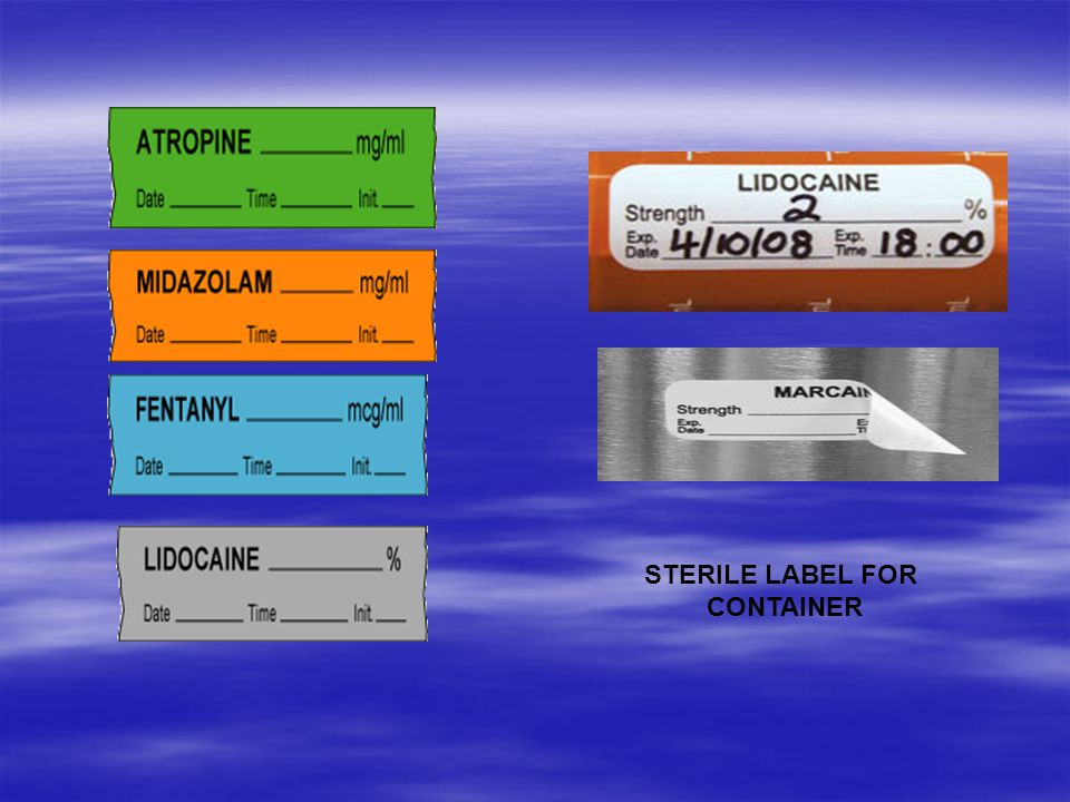 STERILE LABEL FOR CONTAINER
