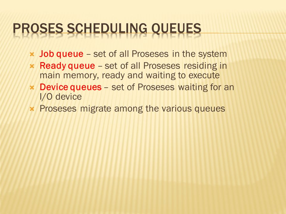 Proses Scheduling Queues