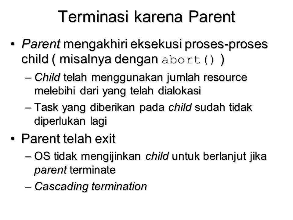 Terminasi karena Parent