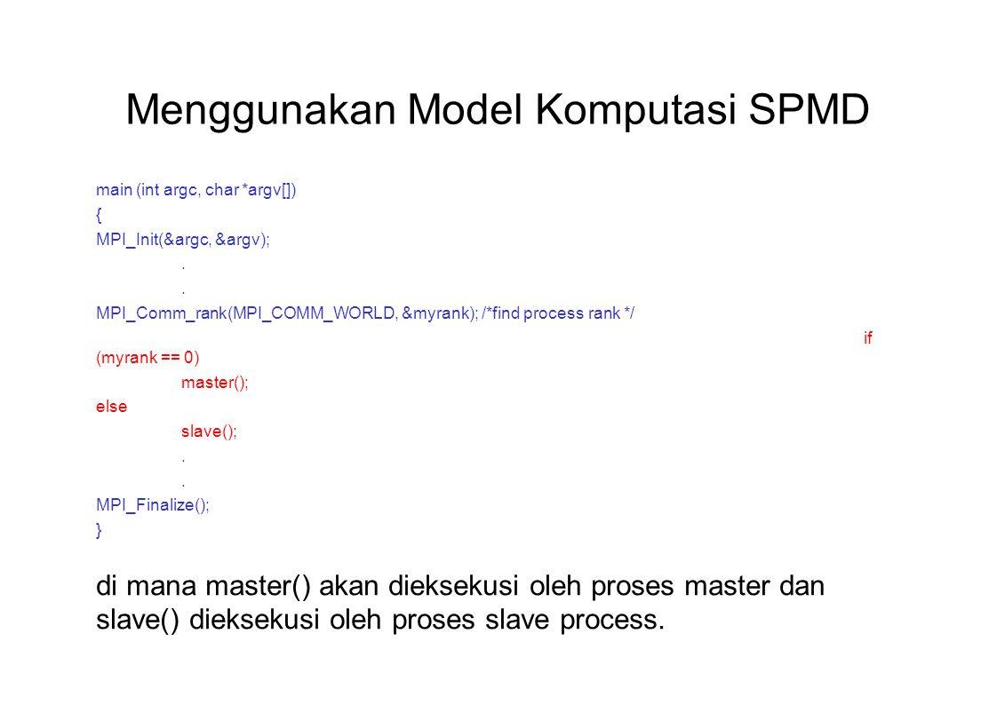 Menggunakan Model Komputasi SPMD