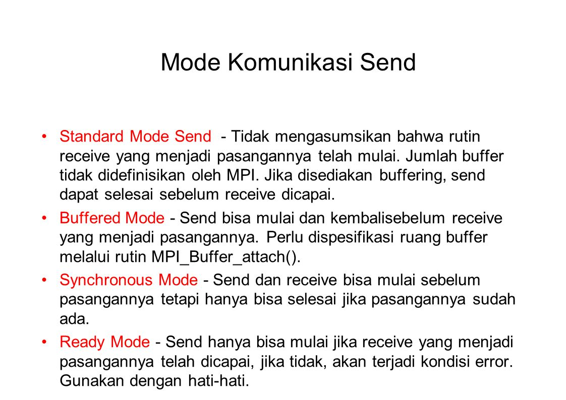 Mode Komunikasi Send