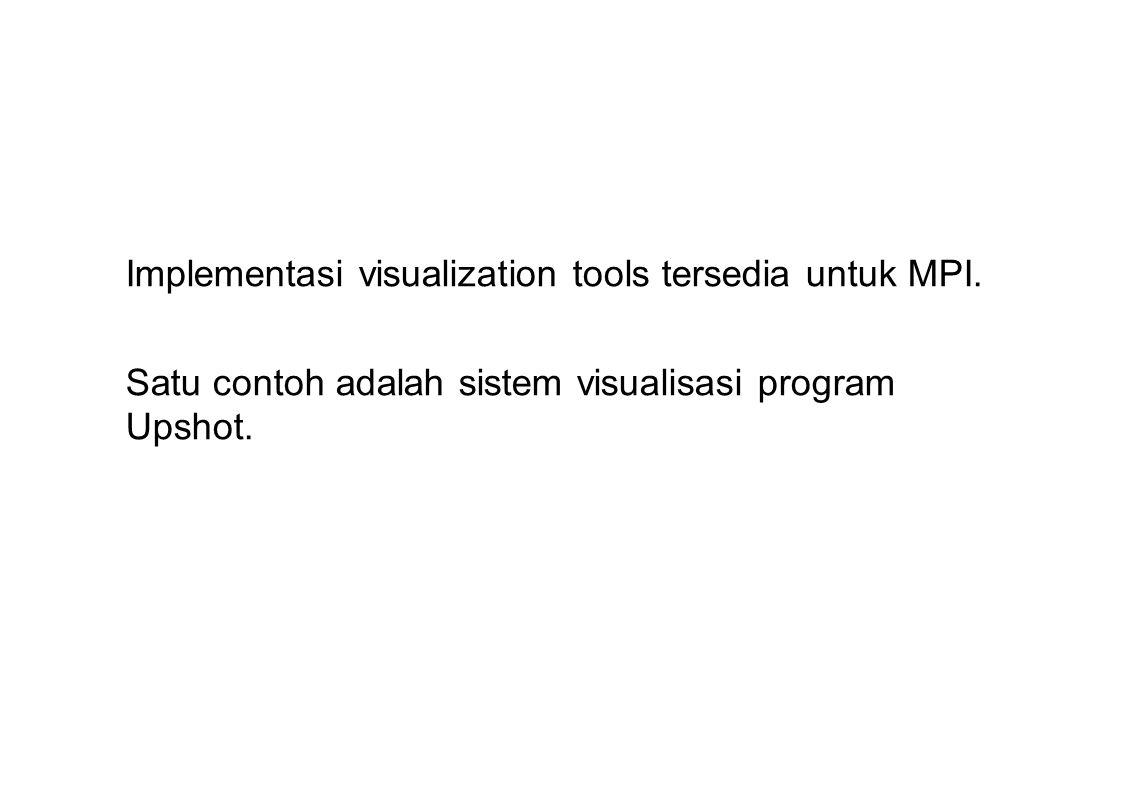 Implementasi visualization tools tersedia untuk MPI.