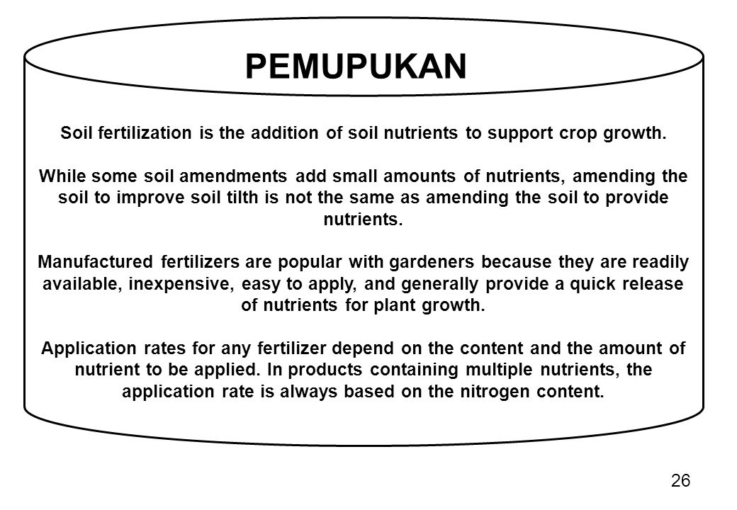 Soil fertilization is the addition of soil nutrients to support crop growth.