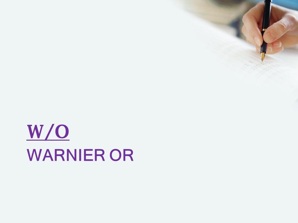 W/O Warnier or