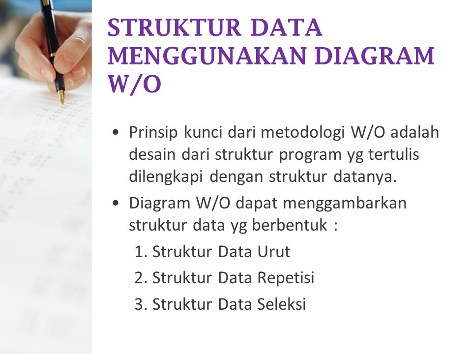STRUKTUR DATA MENGGUNAKAN DIAGRAM W/O