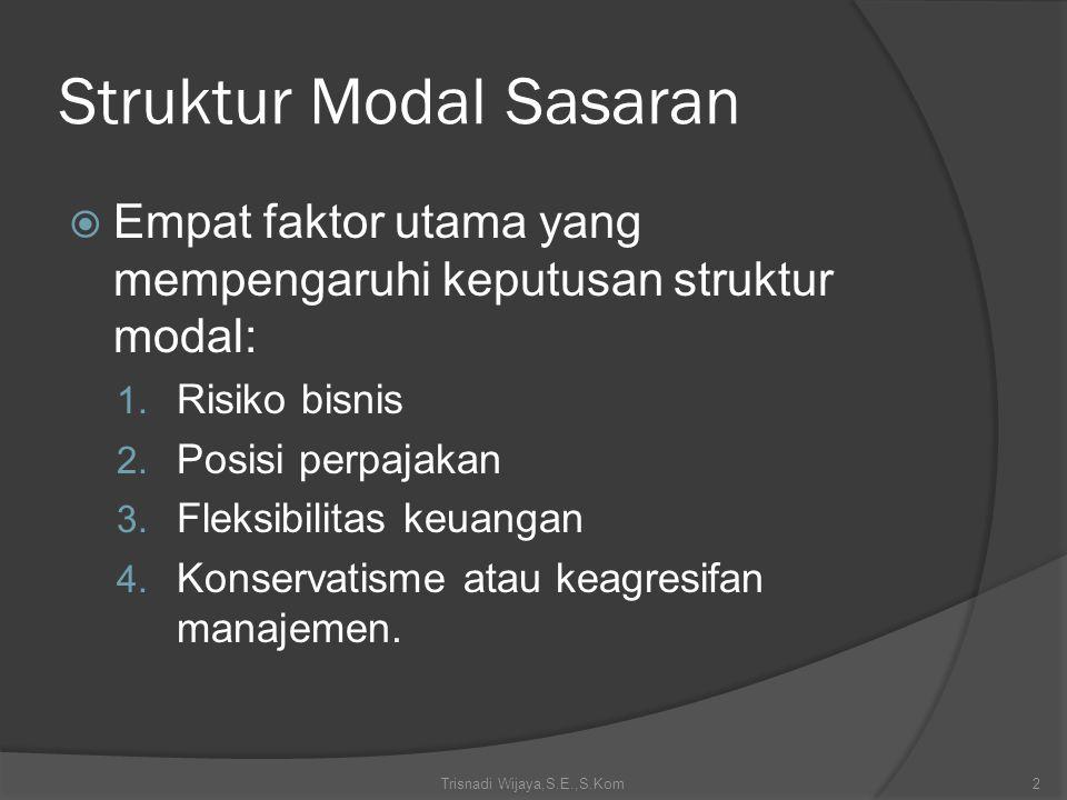 Struktur Modal Sasaran