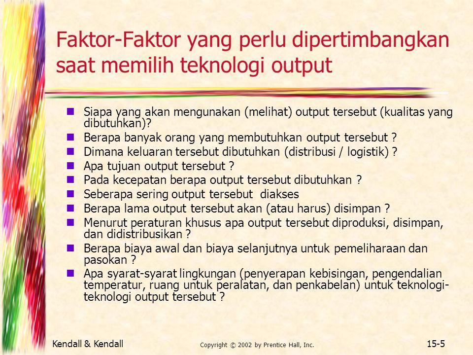 Faktor-Faktor yang perlu dipertimbangkan saat memilih teknologi output