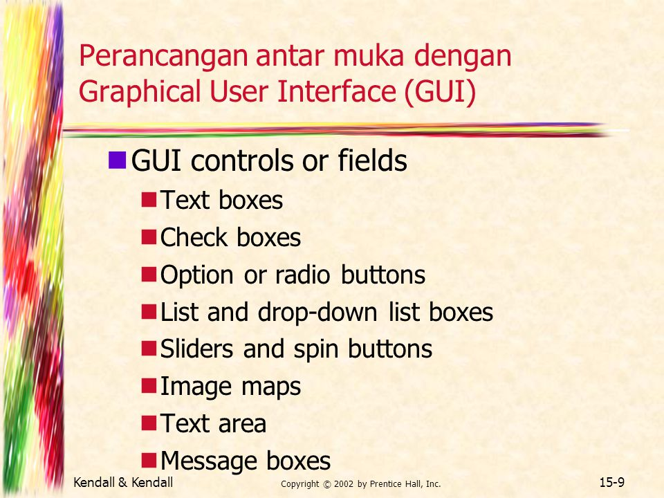 Perancangan antar muka dengan Graphical User Interface (GUI)