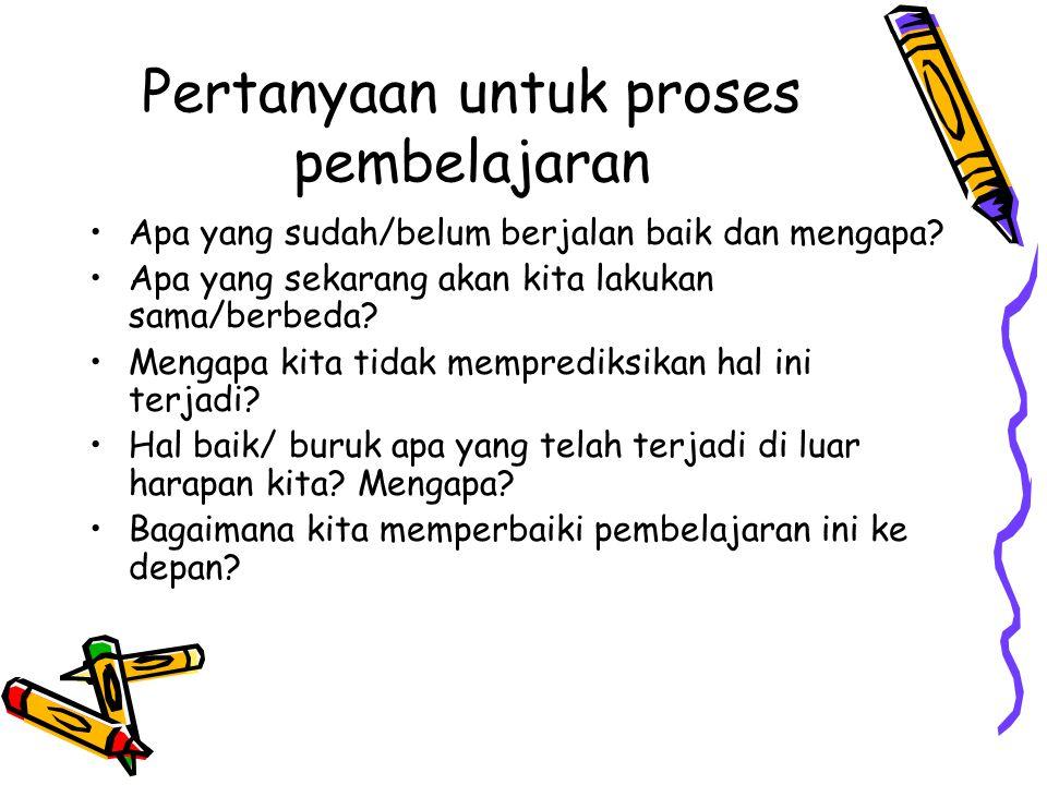 Pertanyaan untuk proses pembelajaran