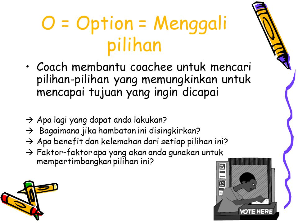 O = Option = Menggali pilihan