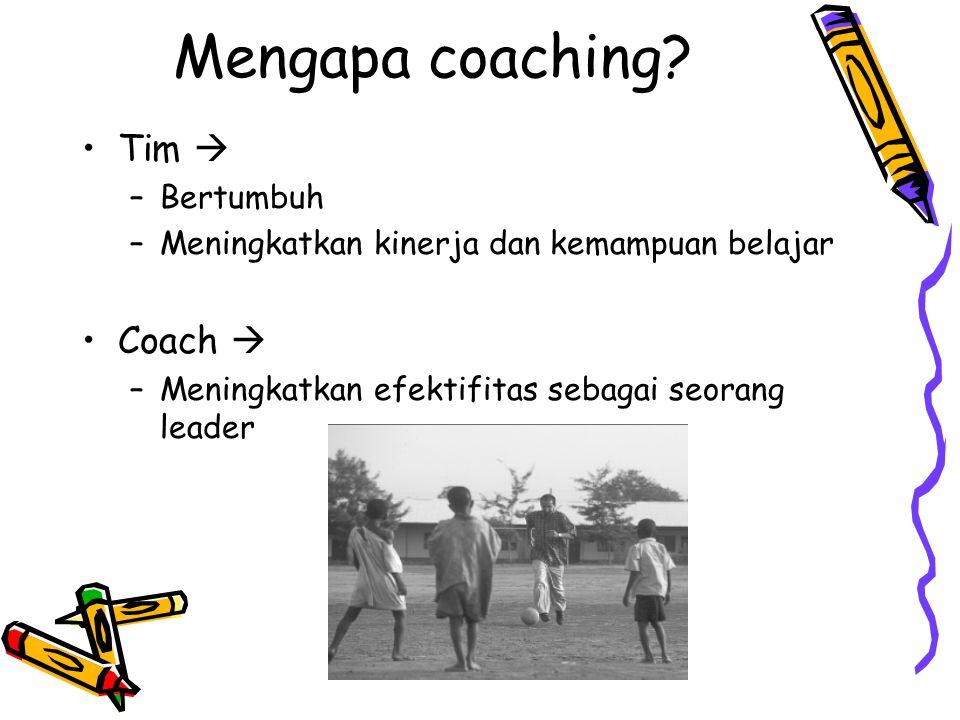 Mengapa coaching Tim  Coach  Bertumbuh