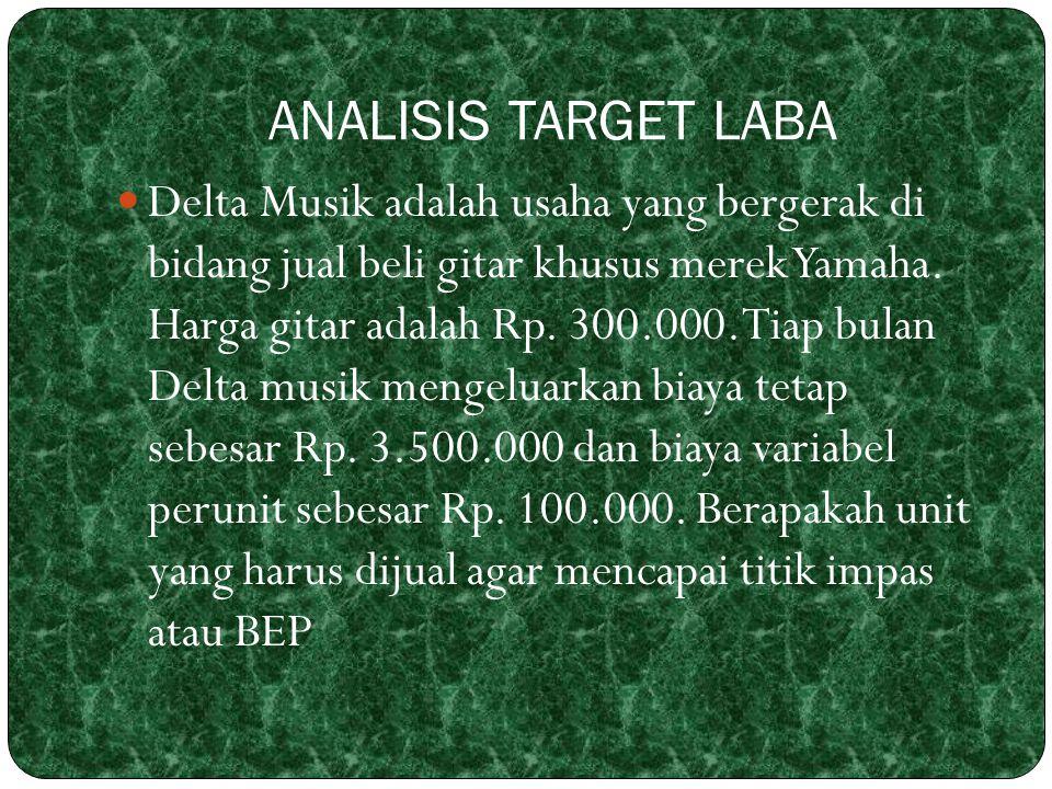 ANALISIS TARGET LABA