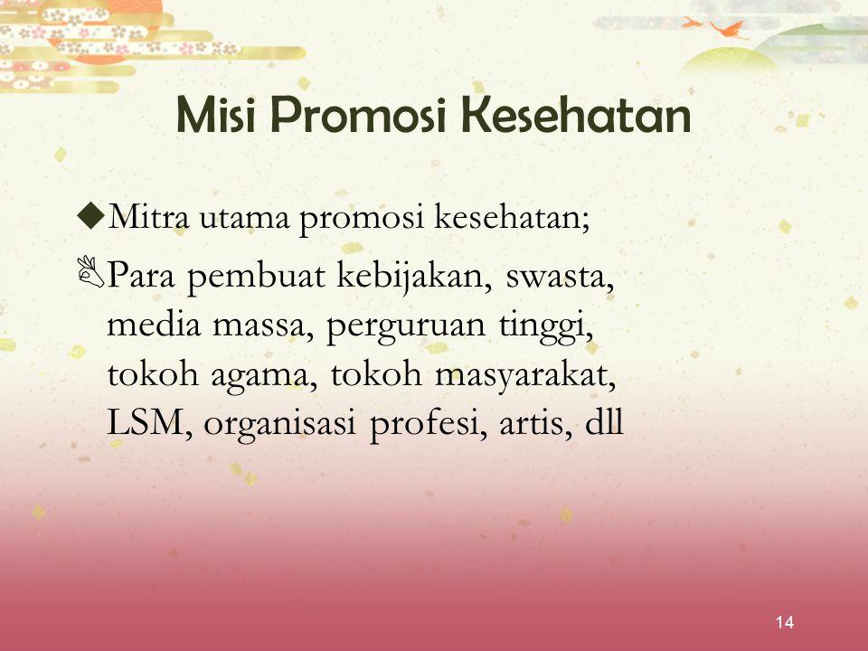 Misi Promosi Kesehatan
