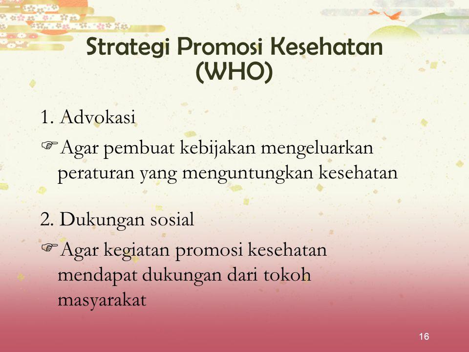 Strategi Promosi Kesehatan (WHO)
