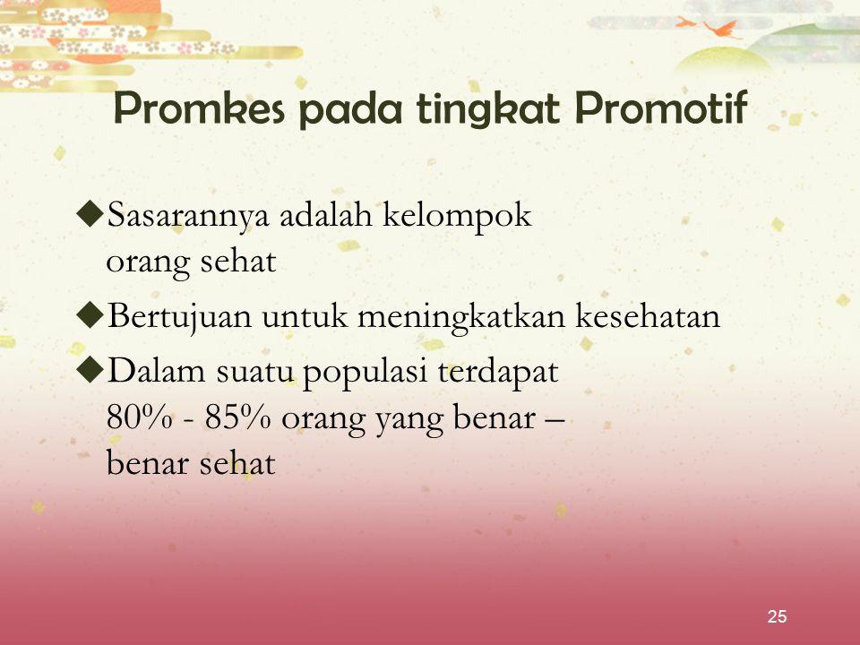 Promkes pada tingkat Promotif