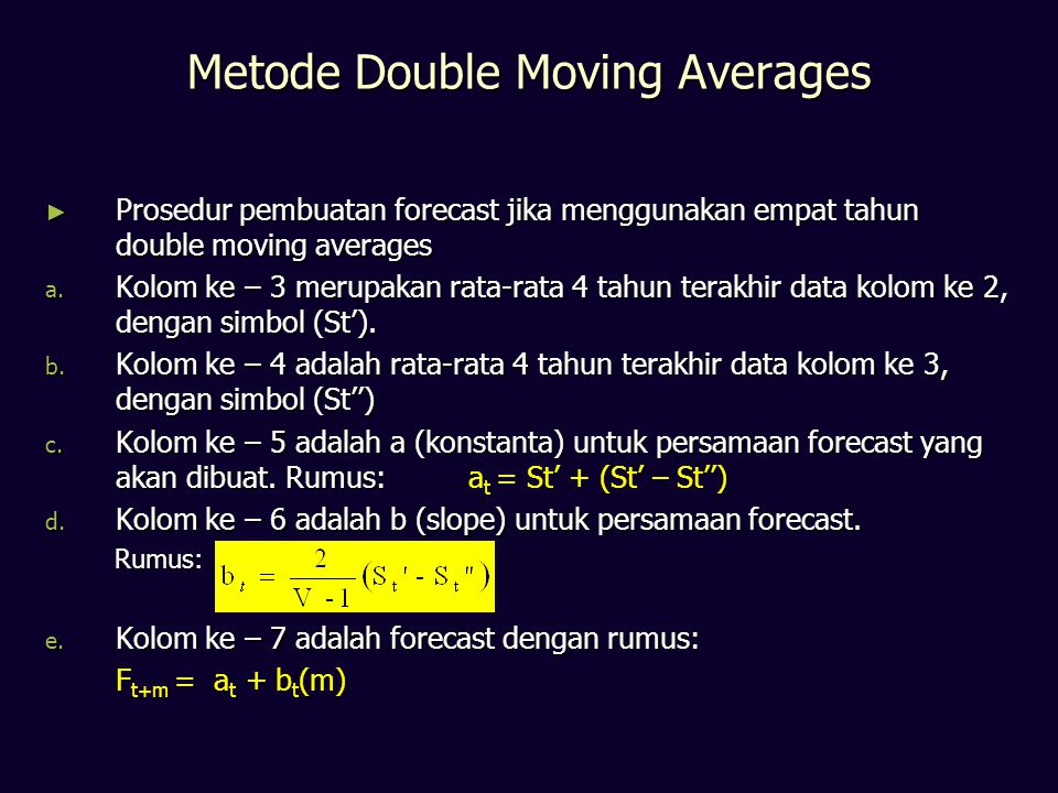 Metode Double Moving Averages