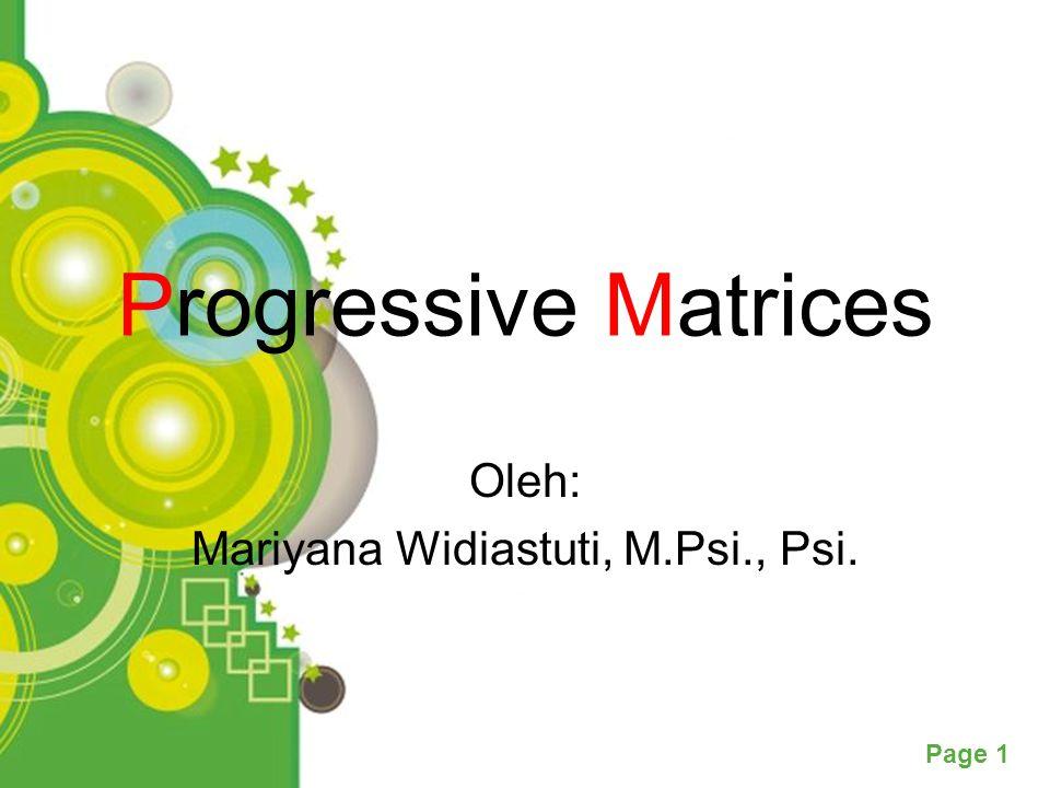 Oleh: Mariyana Widiastuti, M.Psi., Psi.