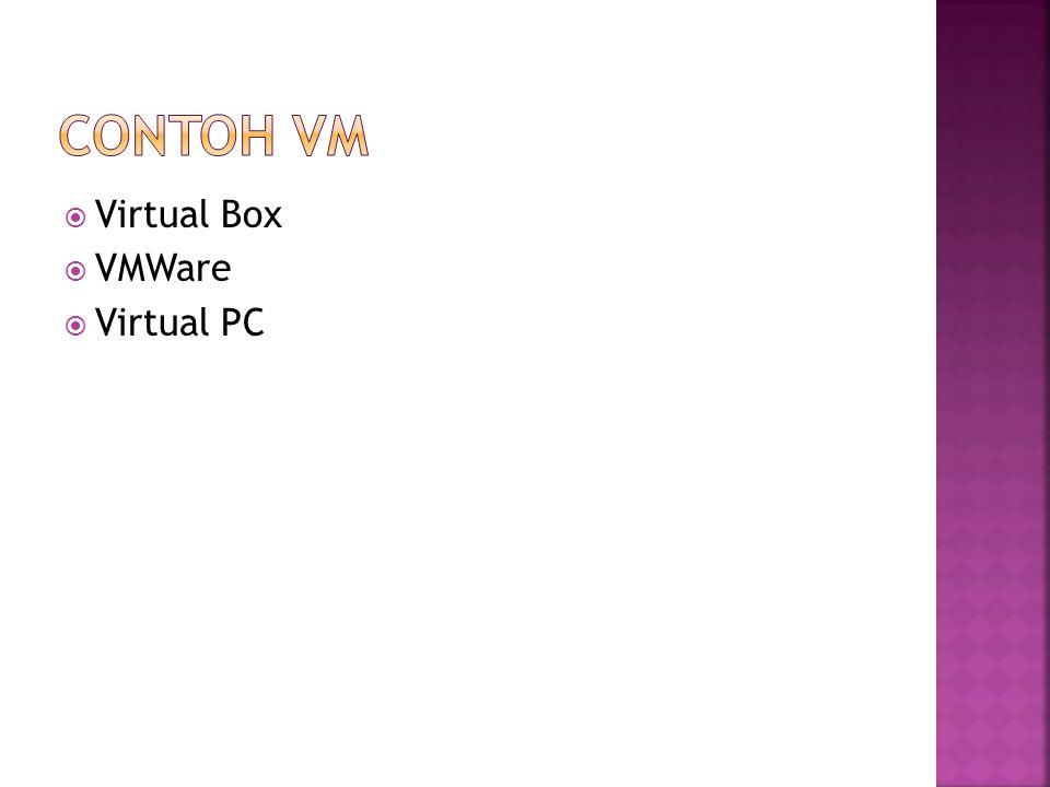 Contoh vm Virtual Box VMWare Virtual PC
