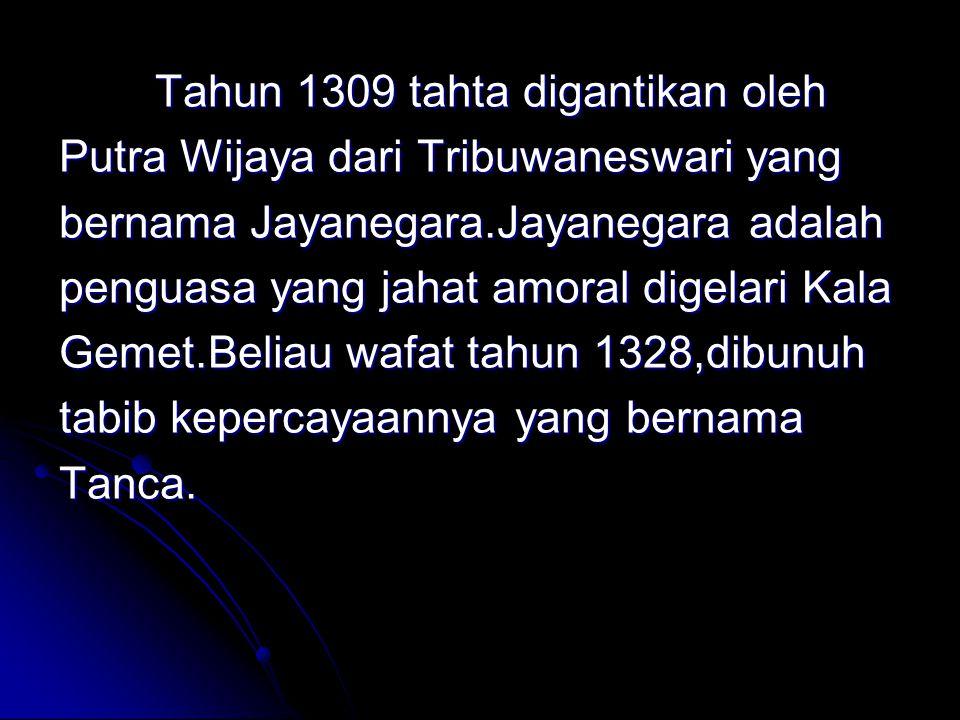 Putra Wijaya dari Tribuwaneswari yang