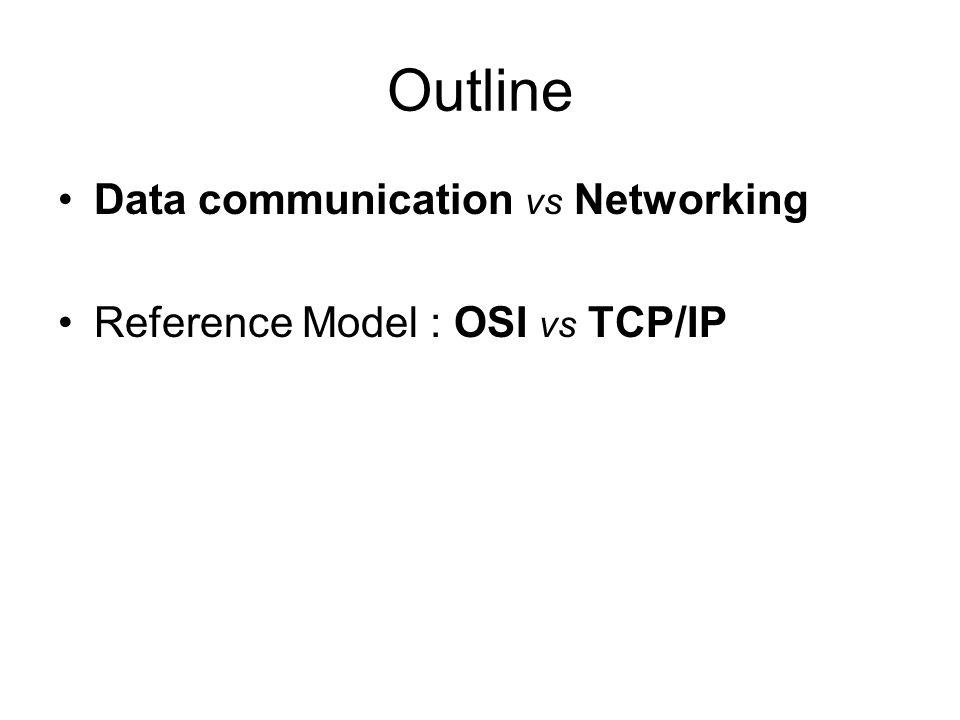 Outline Data communication vs Networking